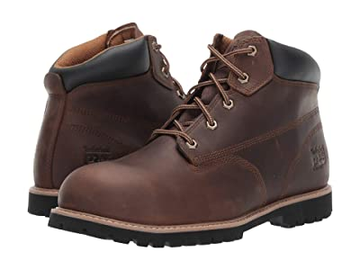 Timberland PRO Gritstone 6 Steel Safety Toe (Brown Leather) Men