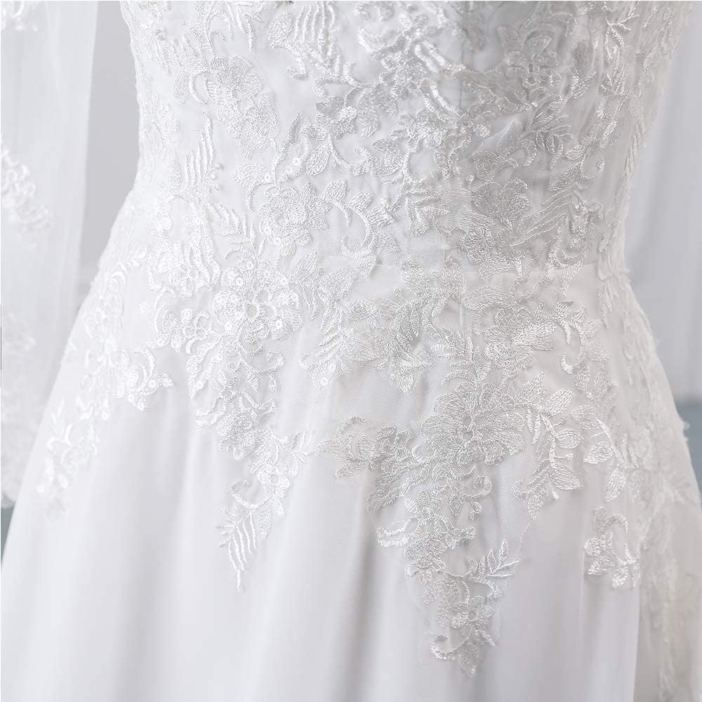 Findlovewedding Wedding Dresses for Bride 2021 with Lace Appliques