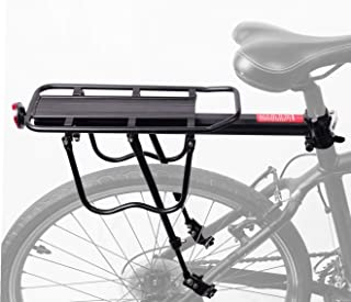 portaequipajes de bicicleta ajustable Cargo Rack-Super Strong Upgrade portaequipajes de bicicleta 4-Strong-Leg Bicycle Cargo Carrier COMINGFIT/® 75kg Capacityj