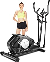 FUNMILY E970 Elliptical Trainers, Magnetic Eliptical Exercise Machines with Pulse Rate Grips, Compact Elliptical Training ...