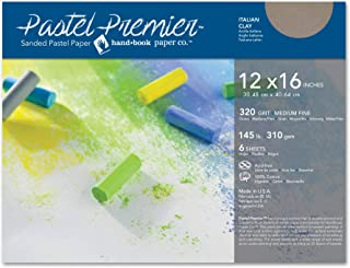 Speedball Art Products 513046 Premier Sanded Pastel Paper, 12 x 16, Italian Clay