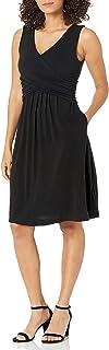Amazon Essentials Sleeveless Crossover Dress Dresses Donna