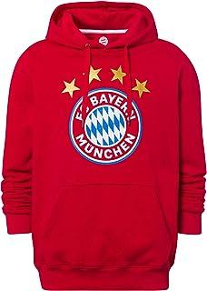 FC Bayern München Hoodie Logo rot/Kapuzenpullover mit Käng