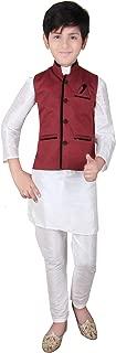 Boys Indian Modi Nehru Gandhi Style traditional Waistcoats vest costume 003