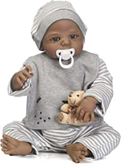TERABITHIA 56cm Black Rare Alive Collectible African-American Reborn Baby Boy Dolls Look Real