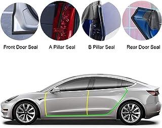 BASENOR Tesla Model 3 Model Y Model S Door Seal Kit Soundproof Rubber Weather Draft Seal Strip Wind Noise Reduction Kit 2016-2021