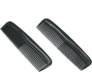 Buorsa Pack of 12 Quality Pocket Hair Comb Beard & Mustache Combs for Men's Hair Beard Mustache and Sideburns, Durable Plastic, Black