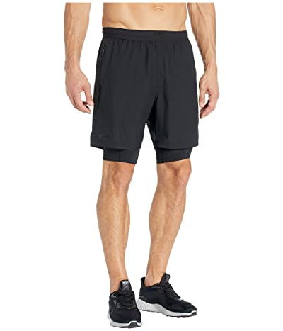 2XU 7 2-in-1 Compression Shorts (Black/Black) Men
