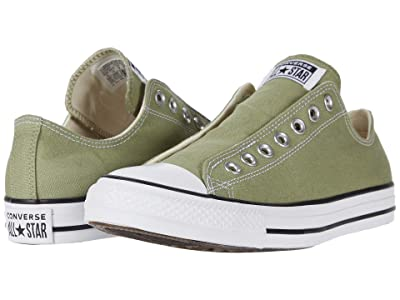 Converse Chuck Taylor All Star Seasonal Slip-On (Street Sage) Athletic Shoes