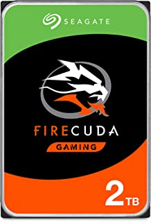 Seagate FireCuda 2TB Solid State Hybrid Drive Performance SSHD – 3.5 Inch SATA 6Gb/s Flash Accelerated for Gaming PC Desktop Frustration Free Packaging (ST2000DX002)
