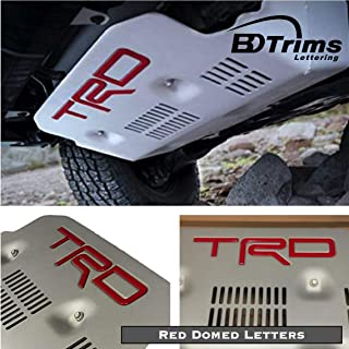BDTrims Domed Letters Inserts fits TRD Skid Plate for 4Runner 2015-2018 Models (Red)