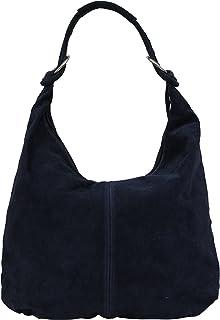 2b761943 AMBRA Bolsa de mano para mujer, de piel de ante, Hobo-Bags,