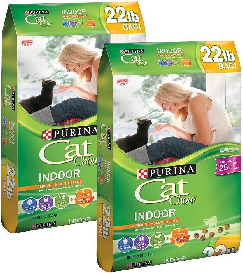 Purina Cat Chow 22 lb. Bag Indoor Cat Food - 2 pack