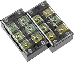 uxcell 2 Pcs 3 Positions Dual Rows 600V 45A Wire Barrier Block Terminal Strip TB-4503L