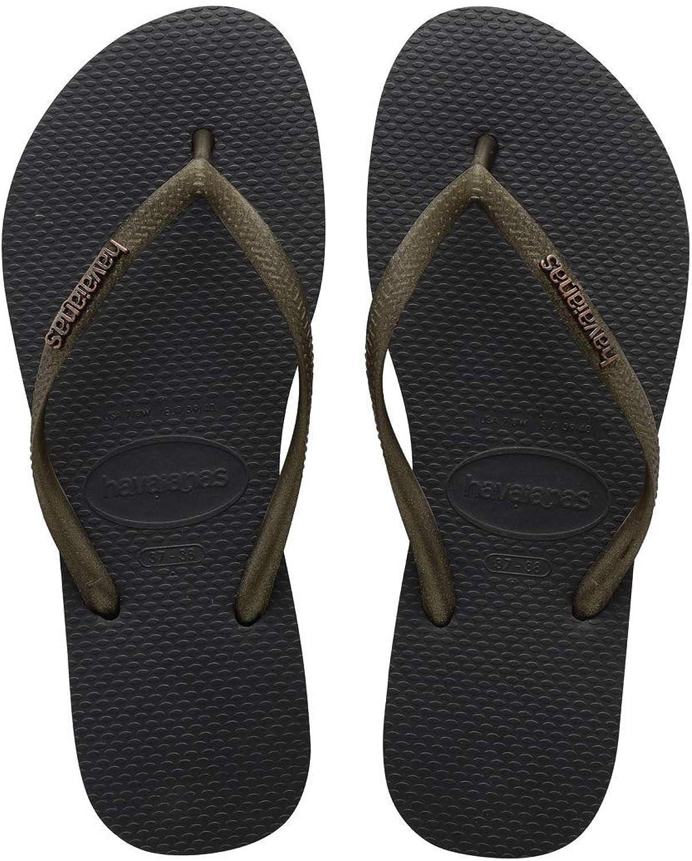 Havaianas Slim Logo Beach Sandals in bluee