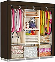 ATHRZ Fancy & Portable Fabric Collapsible Foldable Clothes Closet Wardrobe Storage Rack Organizer Cabinet Cupboard...