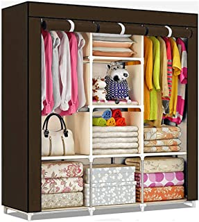 ATHRZ Fancy & Portable Fabric Collapsible Foldable Clothes Closet Wardrobe Storage Rack Organizer Cabinet Cupboard Almirah...