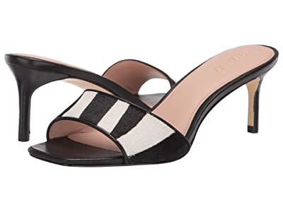Rachel Zoe Samantha Sandal (Zebra Haircalf/Black Nappa) Women