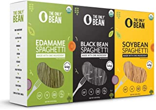 The Only Bean - Organic Edamame, Soy, and Black Bean Spaghetti Pasta - High Protein, Keto Friendly, Gluten-Free, Vegan, No...