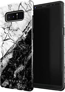 BURGA Phone Case Compatible with Samsung Galaxy Note 8 Fatal Contradiction Black and White Marble Yin and Yang Cute for Girls Heavy Duty Shockproof Dual Layer Hard Shell + Silicone Protective Cover