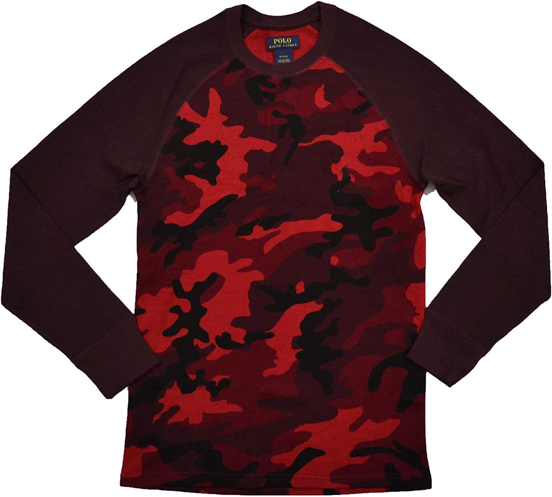 Polo Ralph Lauren Mens Thermal Long Sleeve Camo Sleep Shirt