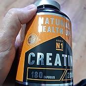 Creatina monohidratada para aumentar la masa muscular y el rendimiento deportivo - Suplemento deportivo de creatina en cápsulas para mejorar la fuerza ...