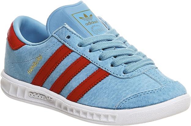Adidas Hamburg enfants - Bleu - Blanch Sky Lush Red, : Amazon.fr ...