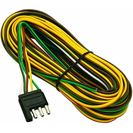 Amazon.com: 20' Wishbone Flat-4 Trailer Wiring Harness #108820: Automotive | Wish Bone 4 Way Trailer Wiring Diagram |  | Amazon.com