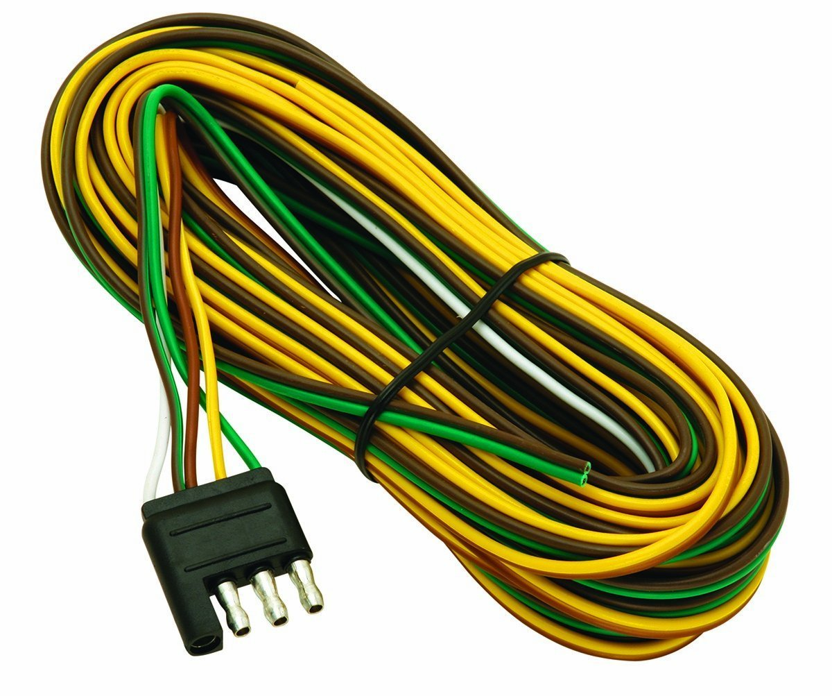 trailer wiring harness kit amazon com 4 Pin Wire Housing wesbar 707261 wishbone style trailer wiring harness with 4 flat connector