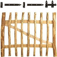 vidaXL Haselnuss Holz Impr/ägniert Zauntor 300x100cm Staketenzaun Gartentor Tor