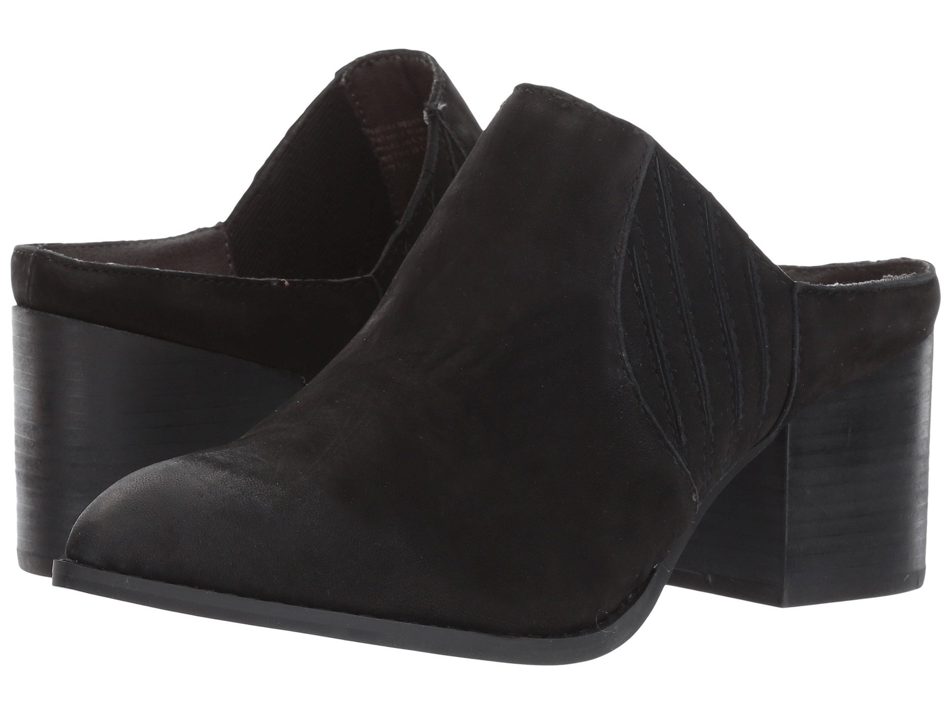 New Seychelles Dialogue Women's Slide Shoes, Black Nubuck