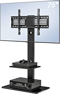 FITUEYES Swivel TV Stand with Mount Height Adjustable for 32-75 Inch