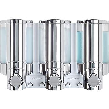 Better Living Products 76345 Aviva Three Chamber Dispenser Chrome