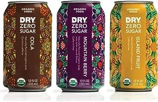DRY Sparkling Zero Sugar Cola, Mountain Berry and Island Fruit Soda Variety Pack - 12 fl. oz cans, 18 Count - New Organic Sodas, Keto-Friendly, Sugarfree, Sodium-Free, Gluten-Free