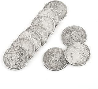 SAGULU 【手品グッズ】 マジックコイン モルガンダラーマジックコイン 薄いタイプ  直径3.8cm 10個セット