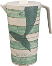 Primitives by Kathy Mermaid Beach Theme Pitcher - Melamine and Bamboo Fiber BPA Free - Down by the Sea