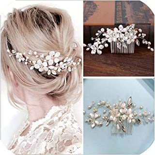 Top Quality Bridal Hair Comb Pom Bridal Hair Accessories Bridesmaid Gift Hair Band Headband For Girl Bride Jewelry Headpiece,White