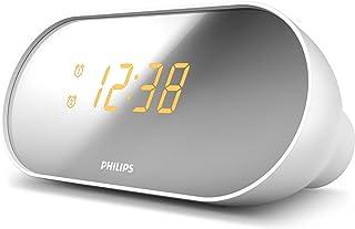 Philips AJ2000 - Radio Reloj Alarma Dual (Pantalla Espejo,