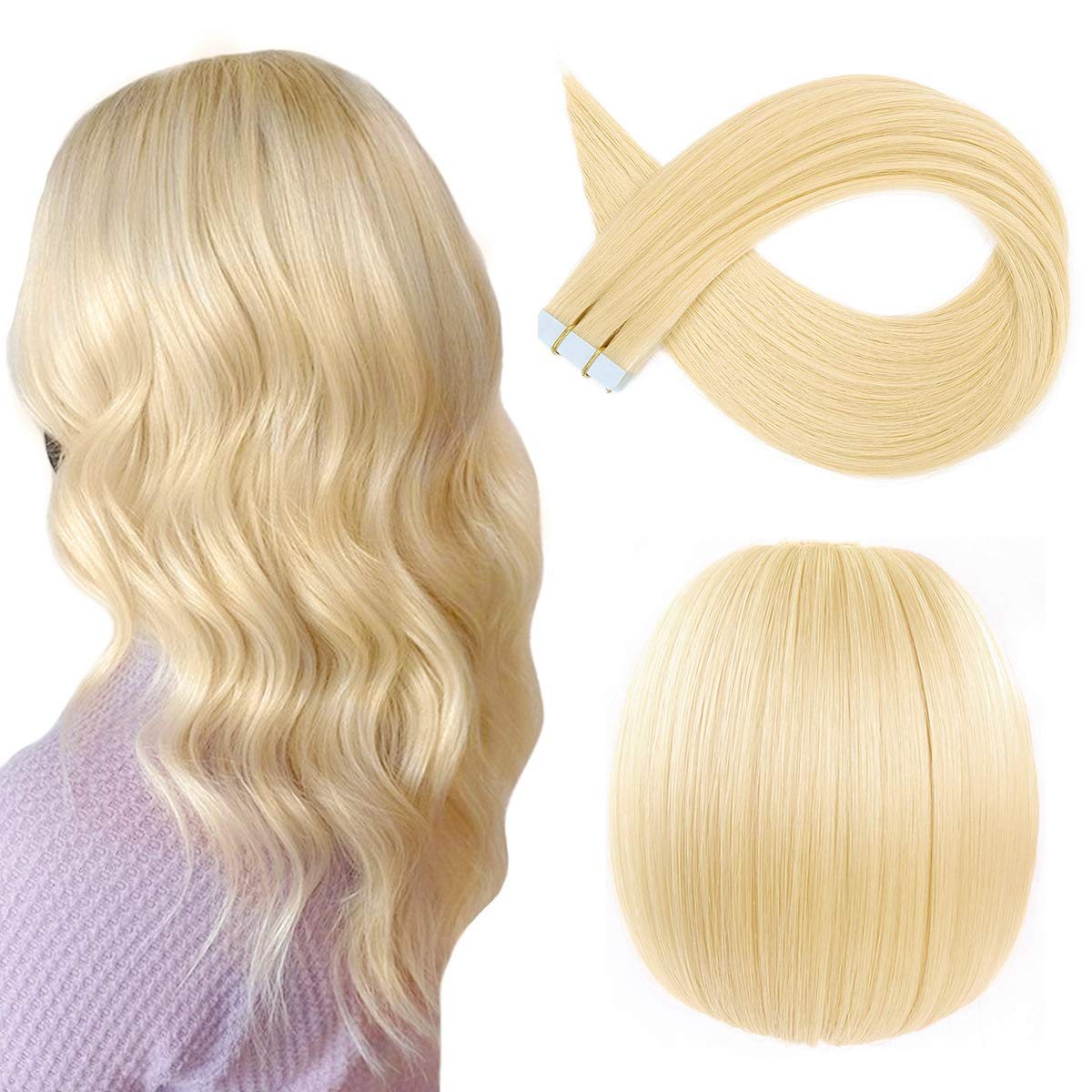 Sunya Hair Extensions Tape in Silky Human Albuquerque Mall 5 popular inches Straigh 14