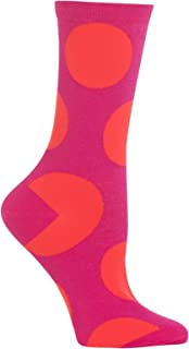 Hot Sox Womens Exaggerated Dot Crew Socks