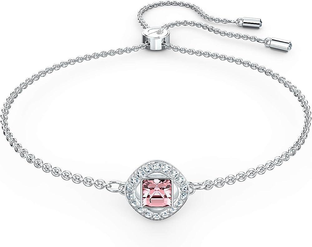 Swarovski braccialetto angelic square da donna placcato rodio 5547023