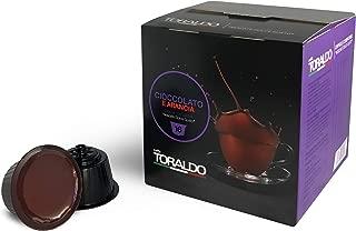 Caffe Toraldo, Italian Hot chocolate and orange Coffee Capsules. Compatible with Nescafe Dolce Gusto machine. (Cioccolato e Arancia)