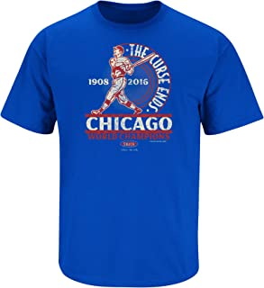 Chicago Baseball Fans. The Curse Ends Royal T-Shirt (Sm-5x)