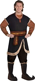 Party City Kristoff Halloween Costume for Adults, Frozen 2, Includes Jumpsuit, Belt, and Boot Covers