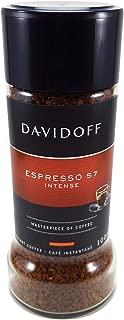 DAVIDOFF Espresso 57 Intense A Masterpiece Taste Of Dark Roasted Ground Instant Arabica Coffee Beans For A Perfect Day Start Jar 100 gm