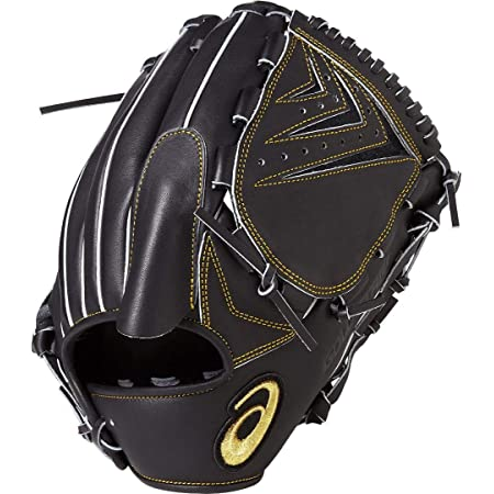 asics(アシックス) 軟式 野球用 グローブ 投手用 (左投げ用) 一般用 GOLD STAGE ROYAL ROAD ゴールドステージ ロイヤルロード サイズ8 2019年モデル 3121A203 ブラック RH(左投げ用)