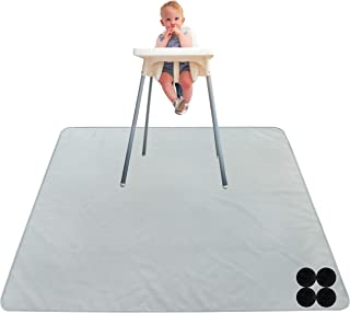 Paw Legend Washable Highchair Splat Floor Mat- Anti-Slip Silicone Spot Splash Mess Mat(53'' X 53'')-Food Catcher Art Craft...