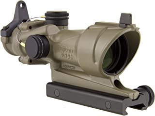 Trijicon ACOG TA01-D-100319 4x 32 Tritium Only, Center Illuminated Amber Crosshair .223 Reticle Scope, Dark Earth