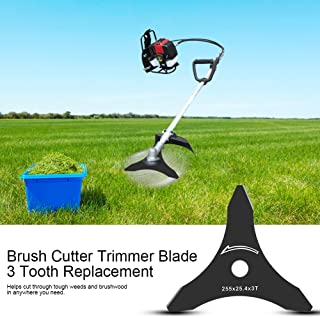 """Yosoo 1pc 10"""" x 3Teeth Brush Cutter Trimmer Blade Weed Eater Blade Replacement"""