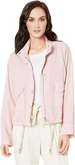 Soft Touch Lyocell Loose Fit Jacket with Drawstring